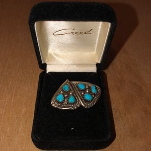 Vintage Creed Sterling Turquoise Earrings